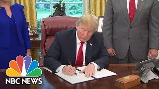 President Donald Trump Signs Executive Order Halting Family Separation At Border | NBC News - NBCNEWS