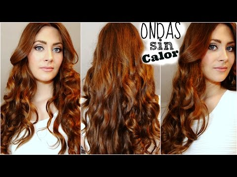 Ondas o rizos sin calor (Sin Planchas). Sin Dañar tu cabello! Heatless Curls