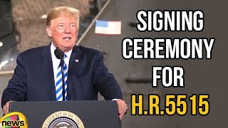 Trump Delivers Remarks and Participates in a Signing Ceremony for H.R.5515 | Trump Speech |MangoNews - MANGONEWS