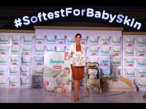 Yummy Mummy Lara Dutta At Pampers Premium Care Pants Launch