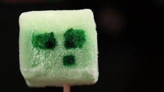 Minecraft Jello Slime Icecream Pops - QnB
