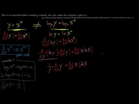 Differential Calculus 陰関数の微分の練習6 Derivative of x^x