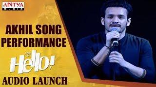 Akhil Song Performance @ HELLO! Movie Audio Launch   Akhil Akkineni, Kalyani Priyadarshan - ADITYAMUSIC