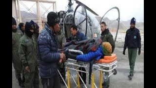 In Graphics: Indian Airforce rescued a pragnant lady in LEH - ABPNEWSTV