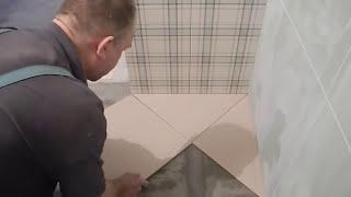 Укладка плитки по диагонали ч.1