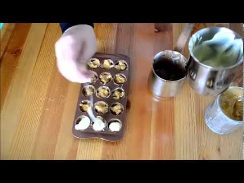 Σοκολατάκια  -Δίχρωμα - Γεμιστά με Καραμέλα Γάλακτος