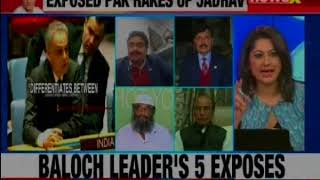 Baloch leader's 5 exposes; says Jadhav was taken via Quetta to Islamabad: Nation at 9 - NEWSXLIVE