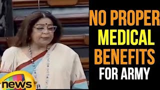 Lok Sabha 2018 : MP Kirron Kher Speech about there is no Proper Medical Benefits for Army |MangoNews - MANGONEWS