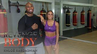 #WorkOutWednesday With Corey Calliet: Jump Squats | Revenge Body With Khloe Kardashian | E! - EENTERTAINMENT