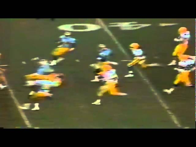 Oregon CB Chris Oldham 40 yard kickoff return vs UCLA 11-11-1989