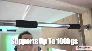 & Bodymax Doorway Pull Up Bar and Chin Up Bar - YouTube pezcame.com