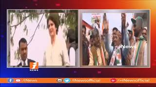 Priyanka Gandhi Roars In UP | First Roadshow To Enthuse Cong Workers | Uttar Pradesh |  iNews - INEWS