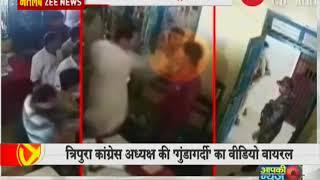 Tripura Congress President Pradyot Deb slaps a man inside Khowai police station - ZEENEWS