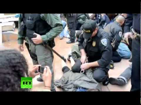 Police brutally arrest Occupy Riverside protesters