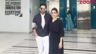 'Badhaai Ho' Stars Ayushmann Khurrana And Sanya Malhotra Visit Bennett University   Bollywood News - ZOOMDEKHO