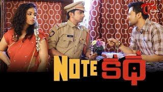 NOTE KATHA | Latest Telugu Short Film 2020 | by Subhamoy Chatterjee | TeluguOneTV - YOUTUBE