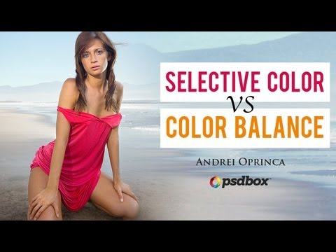 Selective Color vs Hue/Saturation and other adjustments PSD Box
