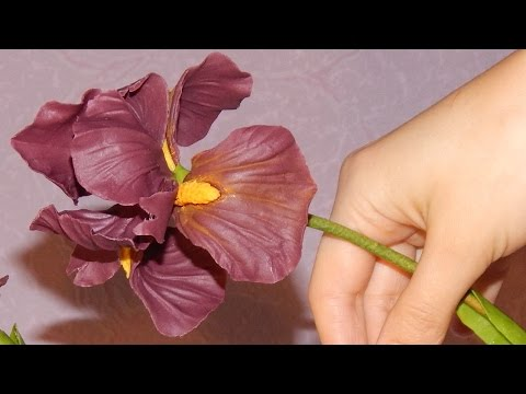 "Цветок ""Ирис"" из холодного фарфора, видео мастер класс"