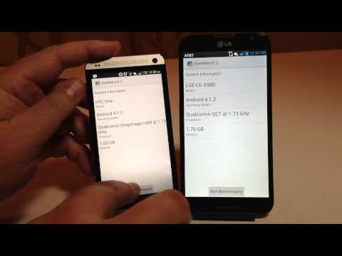 HTC One vs LG Optimus G Pro Which Is Faster Better Benchmark
