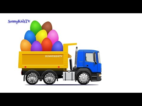 Trucks for kids. Dump Truck. Surprise Eggs. Learn Fruits. Video for children.