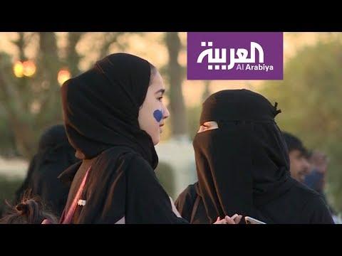 حضور نسائي كبير وعائلي في مباراة الهلال والاتحاد...في الرياض - اتفرج دوت كوم