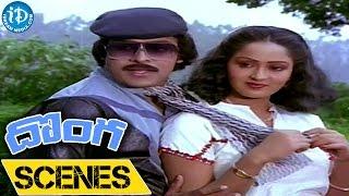 Donga Movie Scenes || Radha, Chiranjeevi Nice Love Scene - IDREAMMOVIES
