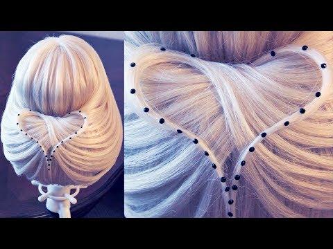 лена роговая прически с резинками для волос видео