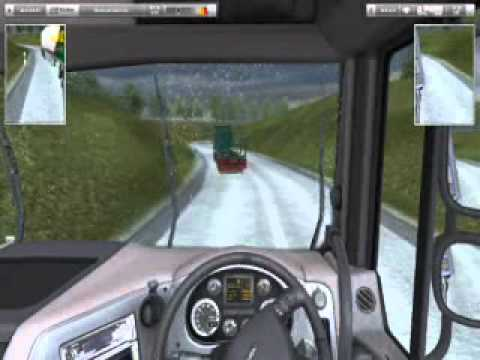 UK Truck Simulator, DAF XF, ngeblong ala bus malam pantura.wmv