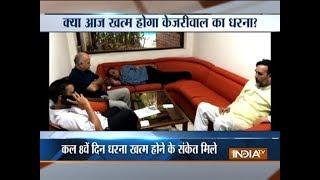 AAP's sit-on protest Deputy CM Manish Sisodia seeks L-G presence at IAS meet - INDIATV