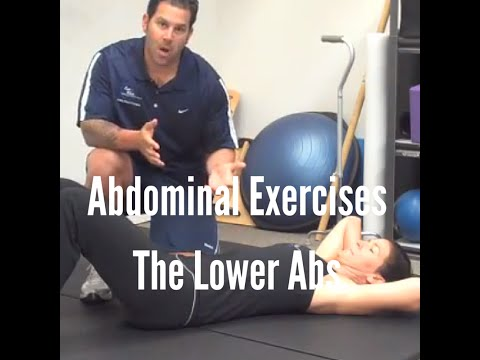 Abdominal Exercises: The lower abs