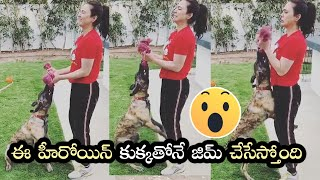 Preity Zinta Doing Biceps Curls With Her Dog Bruno | Stay Home, Stay Safe - TFPC