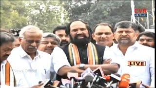 Uttam Kumar Reddy Speaks to Media at Raj Bhavan | Governor meeting Ends | - CVRNEWSOFFICIAL