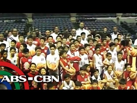NBA stars treat Yolanda victims with hoops clinic