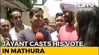 Rashtriya Lok Dal's Jayant Chaudhary Casts His Vote In Mathura - NDTV