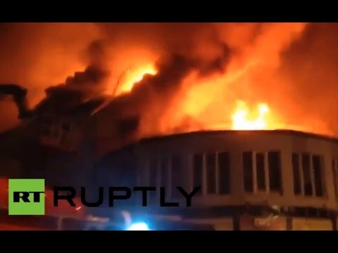 Se incendia el cine más antiguo de Kiev