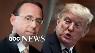 Deputy AG Rosenstein and Trump to meet Thursday - ABCNEWS