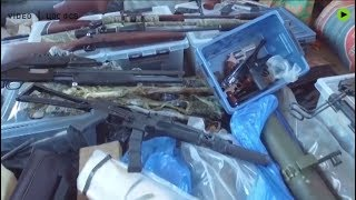 Massive weapons cache was found in Russia: 36 kg of explosives, 15,000 rounds and 100+ firearms - RUSSIATODAY