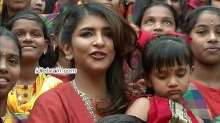 Lakshmi Manchu celebrates Sankranthi with kids from govt schools - idlebrain.com - IDLEBRAINLIVE