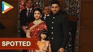 Aishwarya Rai Bachchan, Abhishek Bachchan & daughter Aradhya at Isha Ambani-Anand Piramal Wedding - HUNGAMA