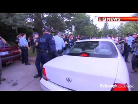 Australian Prime Minister Julia Gillard rescued from Aborigine protesters: 'Drop that spear!'