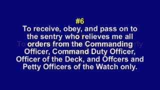 The Eleven General Orders of a Sentry - YouTube
