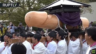 Rub it for luck: Giant wooden penis celebrated at Japanese fertility festival - RUSSIATODAY