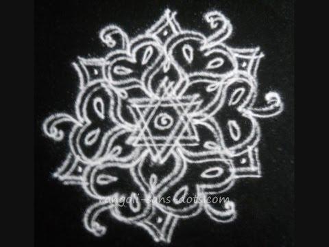 Learn to make a Rangoli / kolam  - double line - special designs