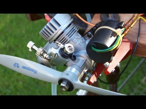 Remote START for small  nitro engine w. ONBOARD STARTER, rc plane or boat (part 1/3)