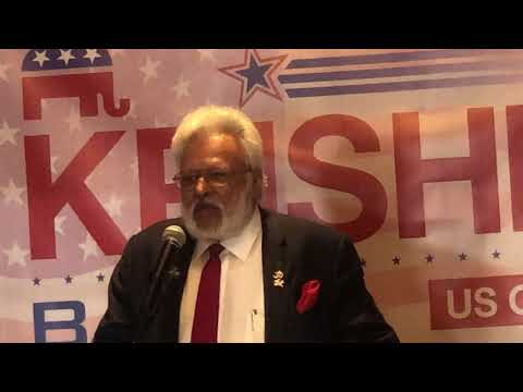 <p>Shalabh Shelly Kumar speaks at Krishna For Congress Launch Rally</p>