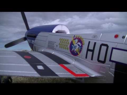 FMS Banana Hobby P-51D Ver. 8 Petie 2nd, Mustang Maiden Flight 2014