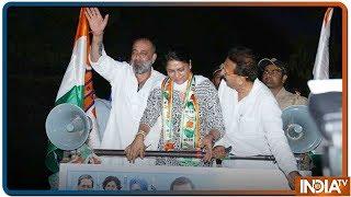 Exclusive | Priya Dutt के Roadshow में सड़कों पर Vote मांगने निकले Sanjay Dutt - INDIATV