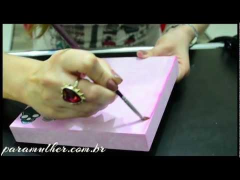 Artesanato em Madeira:  Caixinha para Guardar Maquiagens - Como Fazer