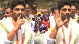 Dj Duvvada Jagannadham Team Visits Tirumala | Huge Crowd @ Tirumala | Craze Of Allu Arjun | TFPC - TFPC