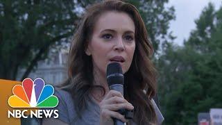 Anti-President Donald Trump Protesters Rally Outside White House | NBC News - NBCNEWS